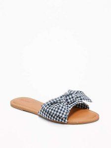 gingham shoe