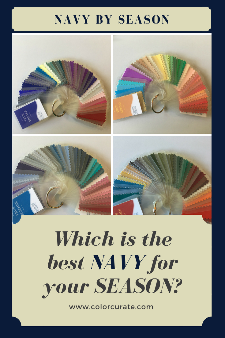 Navy blue color by season